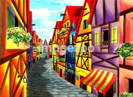 Illustration of a street in Germany