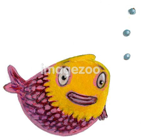 A purple fish