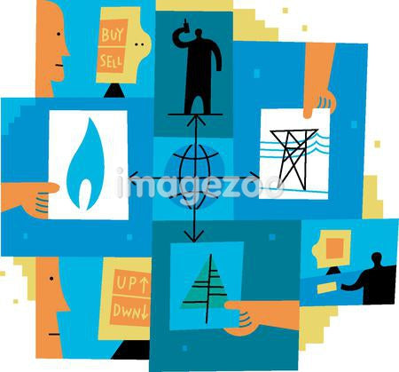 Collage depicting the Energy market
