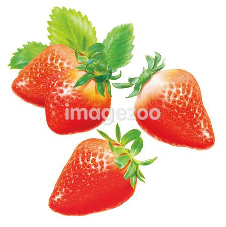 An illustration of strawberries