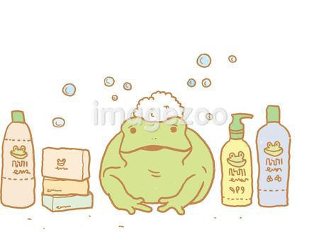 A frog and bath products