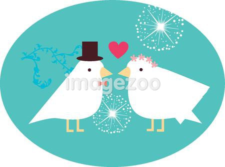 Bird bride and grooms