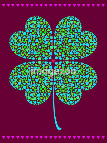 A shamrock made of smaller hearts