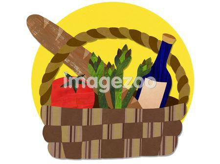 A basket of food