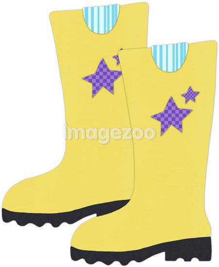 Rain boots against white background
