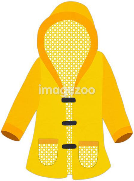 Rain coat against white background