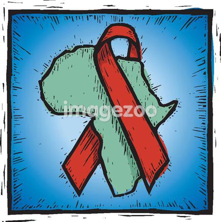 A drawing of the spread of AIDS in Africa