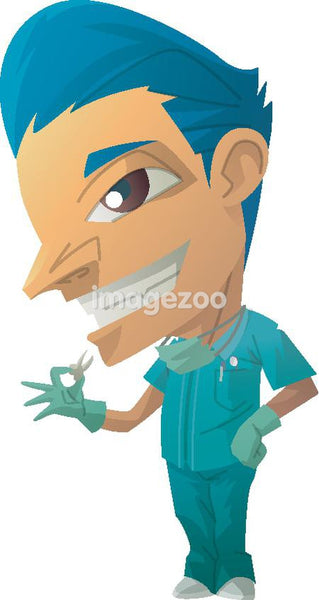 Portrait of a dentist