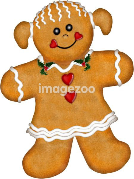 A cute gingerbread girl