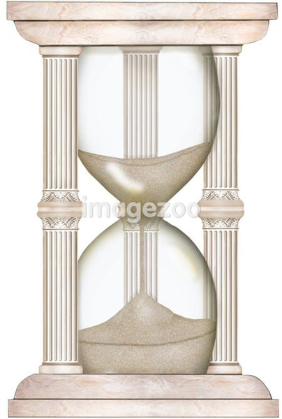 A picture of an hourglass