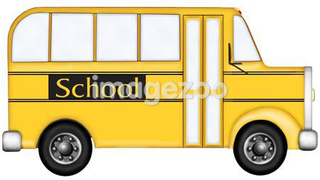 A graphic representation of a yellow school bus