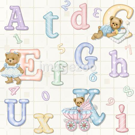 Teddy bears and the alphabet