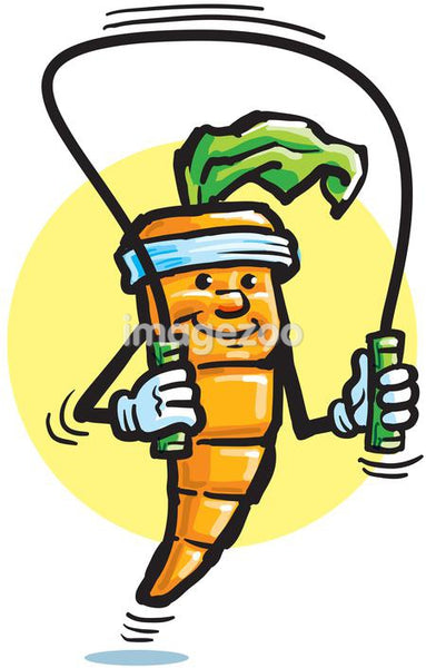 A carrot skipping rope
