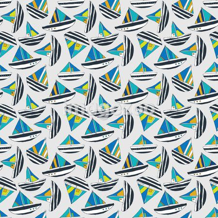 A pattern of sail boats
