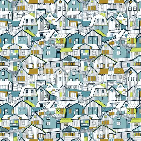 A pattern of houses