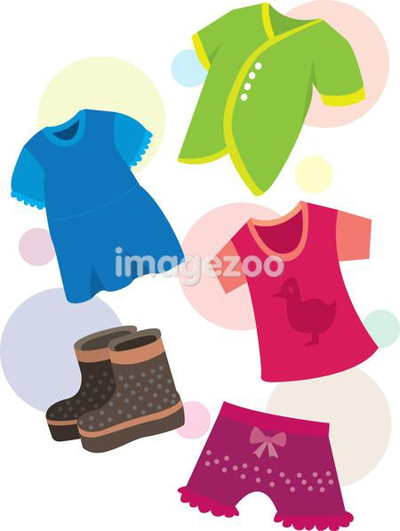 A colorful assortment of children's clothing