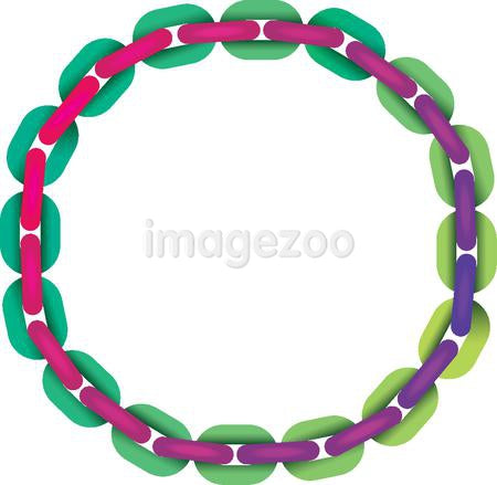 Linking chain in the form of a circle