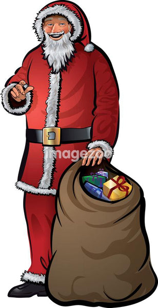 Santa Claus with a sack of gifts
