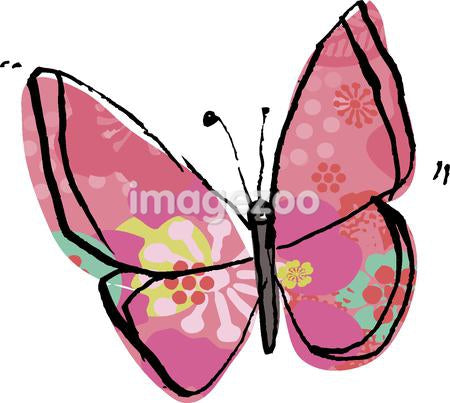 a pink patterned butterfly