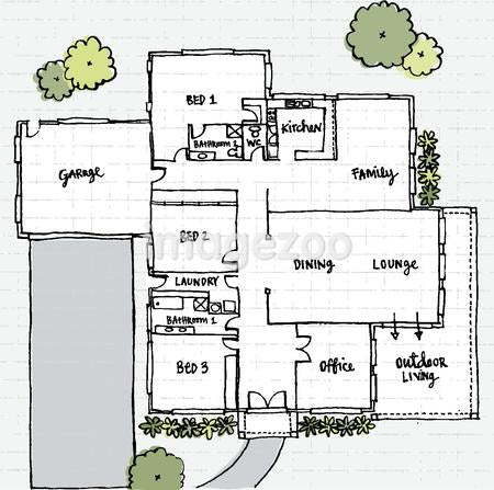 Floor plans of a house