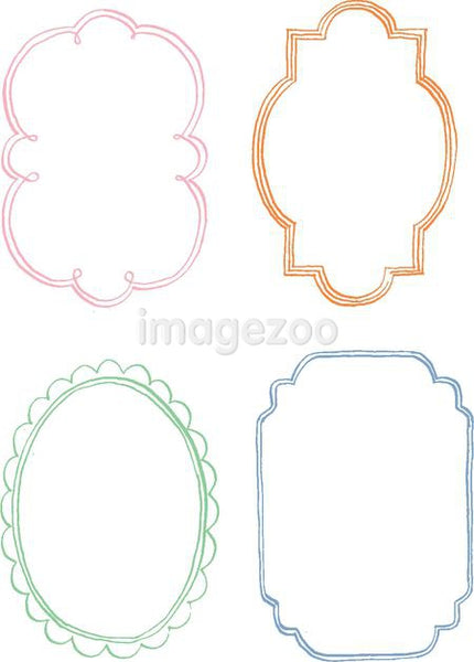 Hand drawn decorative border against white background