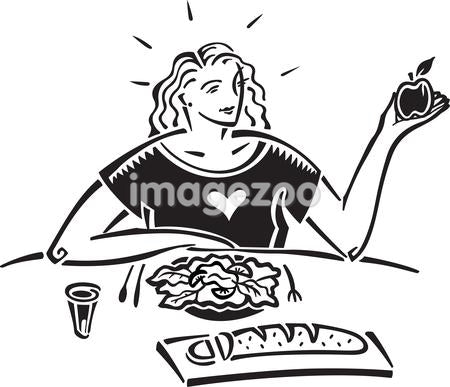 A woman having a healthy meal