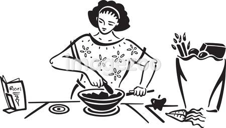A woman making a healthy meal