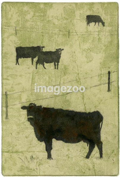 Drawing of four cows