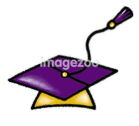 Mortar board against white background