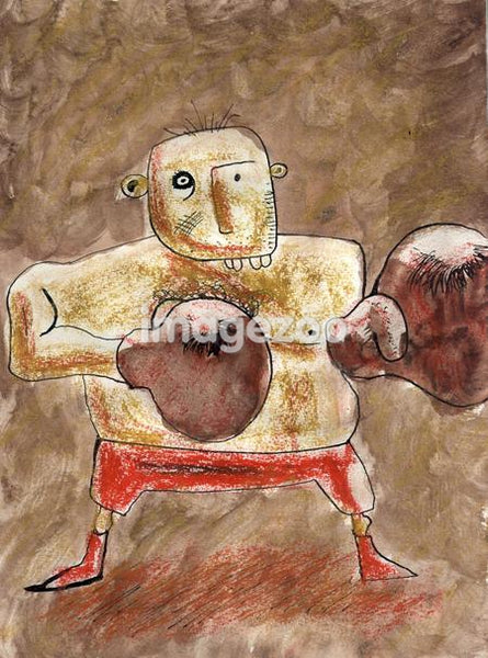 A representation of a boxer