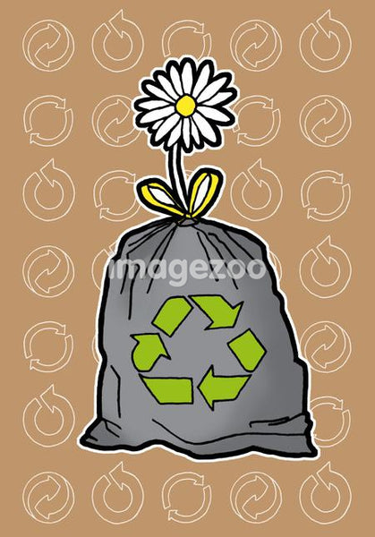 An illustration about recycling
