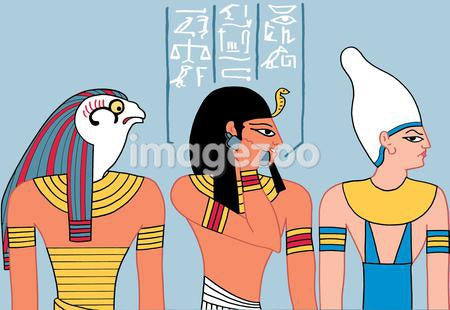 Ancient egyptian talking on the phone