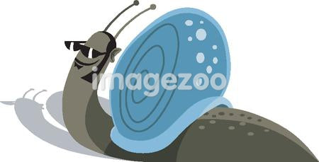 A snail wearing a pair of sunglasses