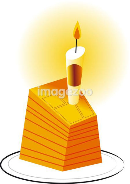 A candle on a cake