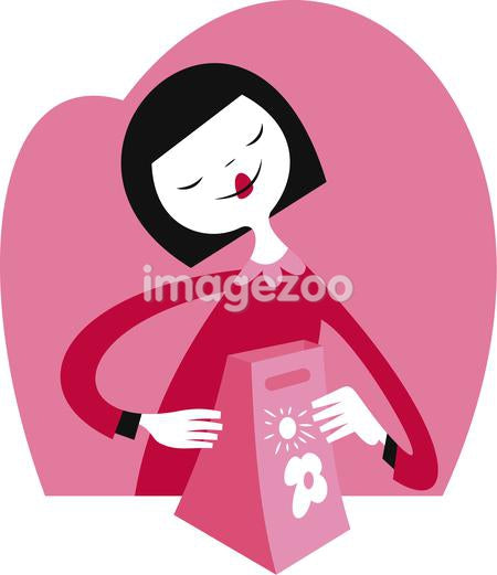 Illustration of a woman packing a lunch bag