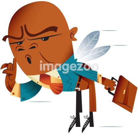 A businessman with wings