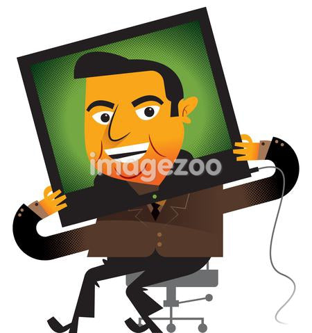 A businessman on television