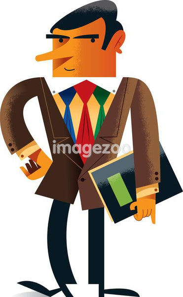 A businessman wearing three ties