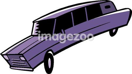 A drawing of a purple limo