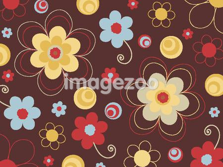 A picture of flowers on chocolate background