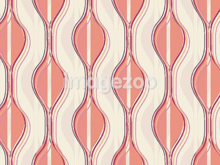 Illustrated abstract pattern with wavy pink shapes