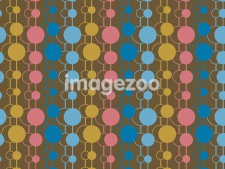 Illustrated abstract pattern with colorful dots on brown