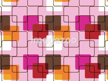 Illustrated abstract pattern with pink and brown design