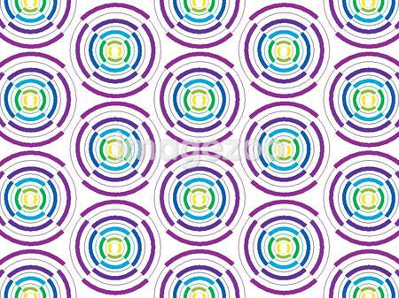 Illustrated abstract pattern with purple and blue circles
