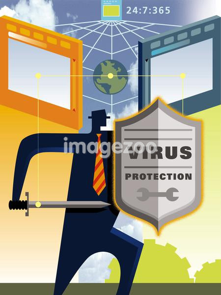 An illustration of protection against computer virus