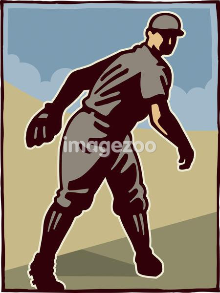 Drawing of a baseball player
