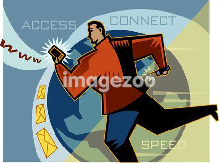 A man accessing the internet
