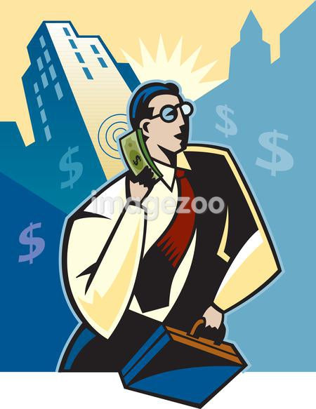 A high powered businessman on the phone