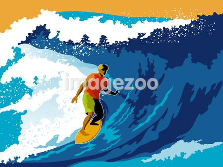 A man surfboarding a wave