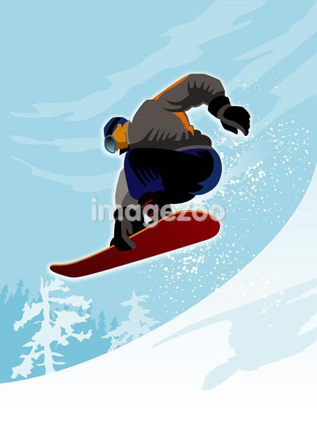A man performing a snowboard trick